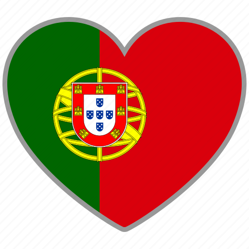 country, flag, flag heart, love, national, portugal icon
