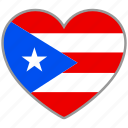 flag, flag heart, love, puerto rico icon