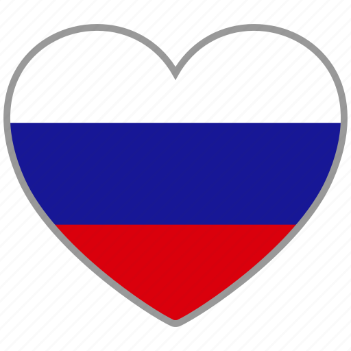 country, flag, flag heart, love, national, russia, russian icon