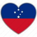 flag heart, samoa, country, flag, national, love icon