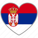 country, flag, flag heart, love, nation, serbia icon