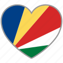 country, flag, flag heart, love, national, seychelles icon