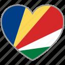 flag heart, seychelles, country, flag, national, love