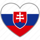 flag heart, slovakia, country, flag, national, love