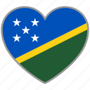 flag, flag heart, love, solomon islands icon