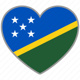 flag, flag heart, love, solomon islands icon