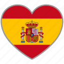 flag heart, spain, country, flag, national, love