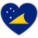 country, flag, flag heart, love, nation, tokelau icon