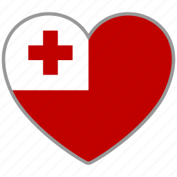 country, flag, flag heart, love, nation, tonga icon