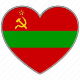 country, flag, flag heart, love, nation, transnistria icon