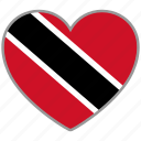 flag, flag heart, love, trinidad and tobago icon