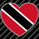 flag heart, trinidad and tobago, flag, love