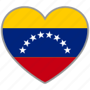 country, flag, flag heart, love, nation, venezuela icon