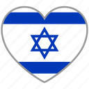 country, flag, flag heart, israel, love, nation icon