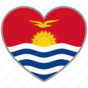country, flag, flag heart, kiribati, love, nation icon