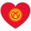 flag heart, kyrgyzstan, country, flag, nation, love icon
