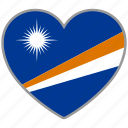 flag, flag heart, love, marshall islands icon