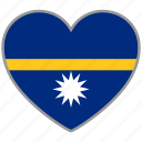 flag, flag heart, love, nation, national, nauru icon
