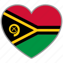 country, flag, flag heart, love, nation, vanuatu icon