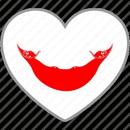 flag, flag heart, love, rapa nui icon