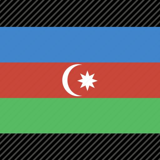 azerbaijan, rectangle icon
