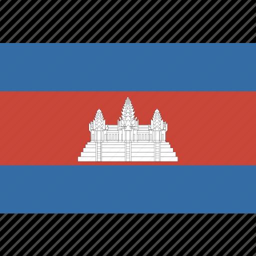 cambodia, rectangle icon