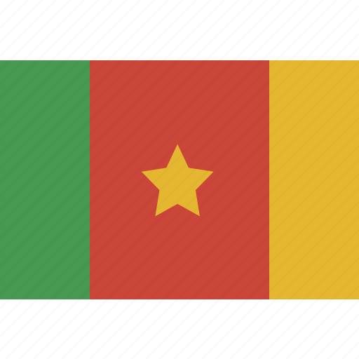 cameroon, rectangle icon