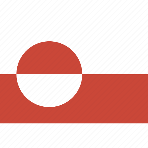 flag, greenland, rectangle icon