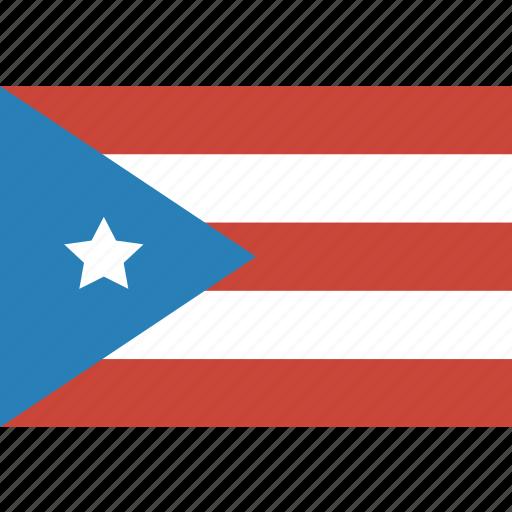 flag, puerto, rectangle, rico icon