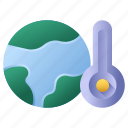 globe, global warming, warm, thermometer, temperature, world, earth