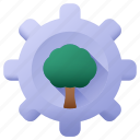 setting, settings, configuration, trees, tree, cogwheel, nature