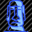 easter, island, landmark, moai, world icon