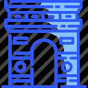 arc de triomphe, france, landmark, paris, world icon