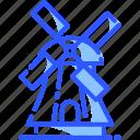 kinderdijk windmills, landmark, netherlands, world