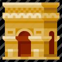 arch de triomphe, architecture, building, heritage, history, world landmark icon