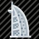 architecture, building, burj al arab, heritage, history, world landmark icon