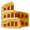 architecture, building, colosseum, heritage, history, world landmark icon