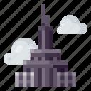 architecture, building, empire state, heritage, history, world landmark icon