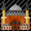 architecture, building, hagia sophia, heritage, history, world landmark icon