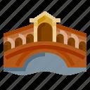 architecture, building, heritage, history, rialto bridge, world landmark icon