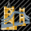 architecture, building, heritage, history, tower bridge, world landmark icon
