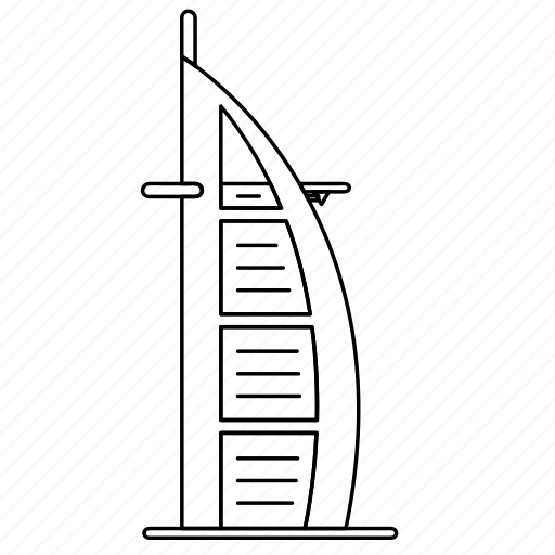 al, arab, burj, dubai, landmark, travel, wonder icon