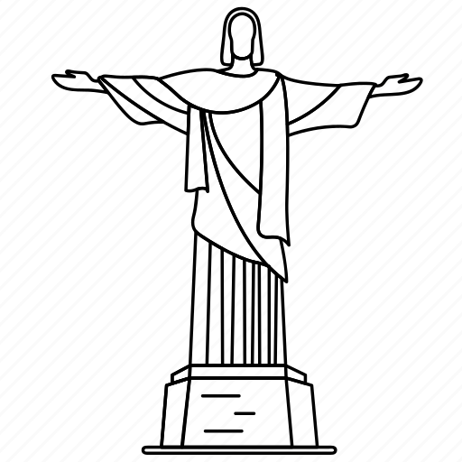 brazil, christ, landmark, redeemer, the, travel, wonder icon