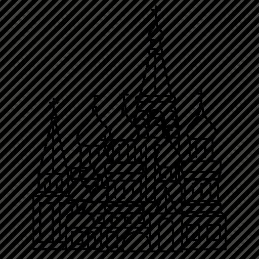 basils, cathedral, landmark, russia, saint, travel, wonder icon