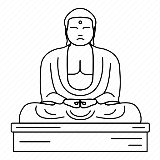 buddha, great, japan, landmark, the, travel, wonder icon