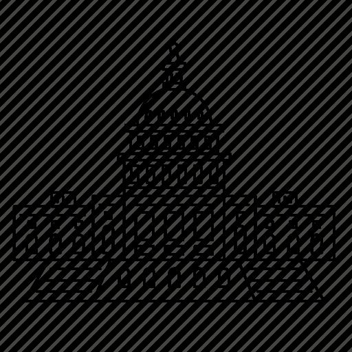 america, capitol, landmark, president, travel, us, wonder icon