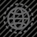 communication, globe, internet, map, orb, orbit, world icon