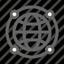 communication, globe, internet, map, world icon