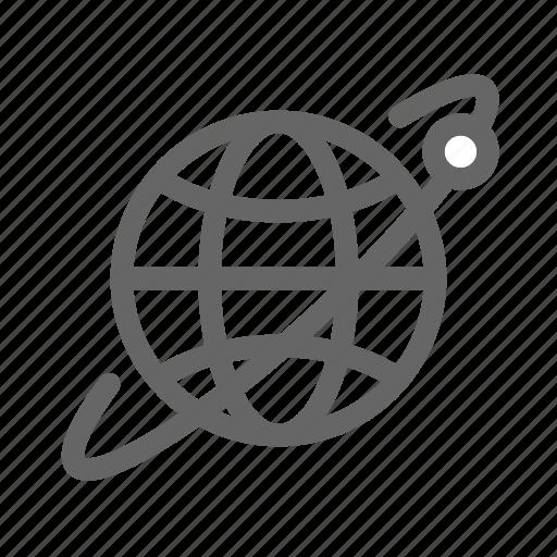earth, globe, map, orb, orbit, space, world icon