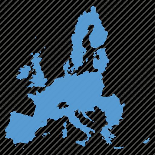 eu, europe, european, location, map, navigation, union icon